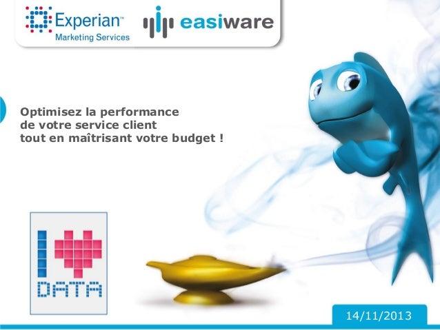 Optimisez la performance de votre service client tout en maîtrisant votre budget !  14/11/2013
