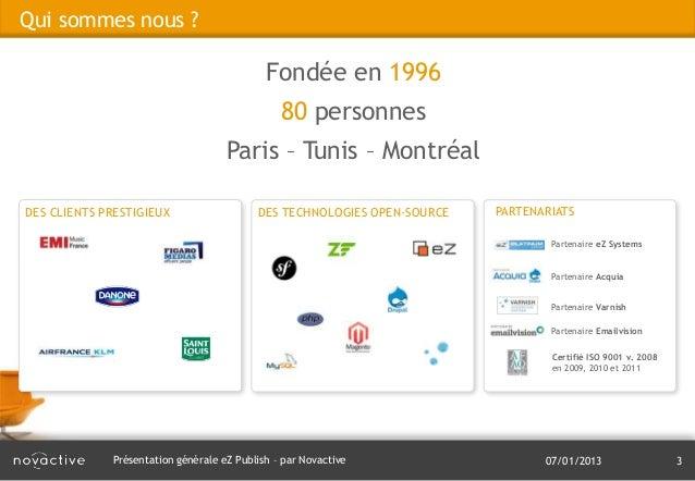 Présentation générale eZ Publish Slide 3