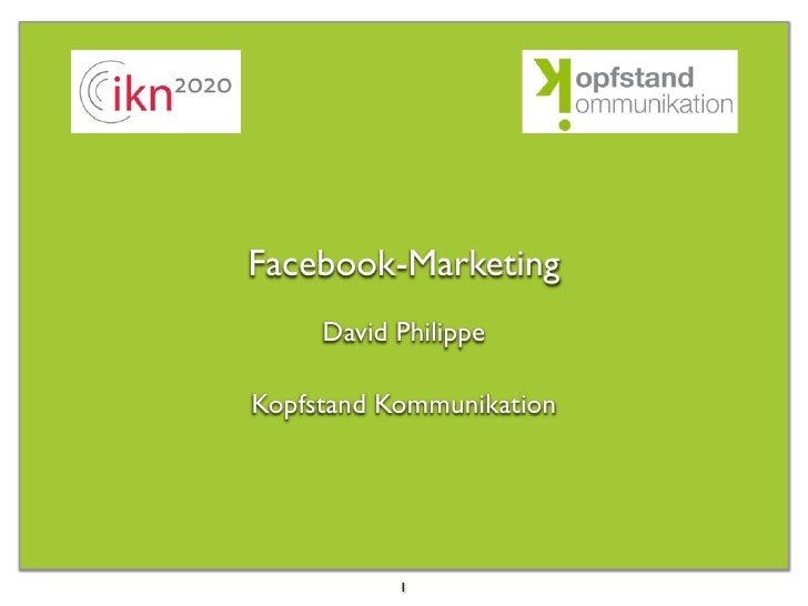 Facebook-Marketing      David Philippe  Kopfstand Kommunikation                1