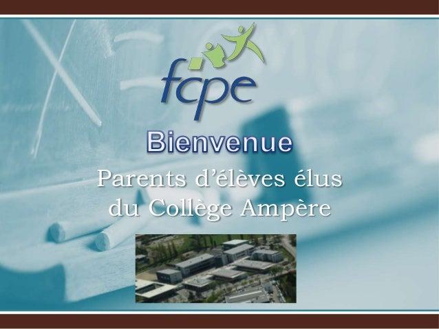 Parents d'élèves élus du Collège Ampère