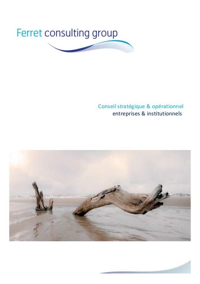 Conseil stratégique & opérationnel entreprises & institutionnels