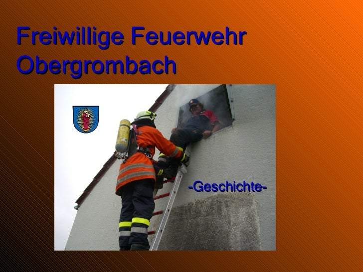 Freiwillige Feuerwehr Obergrombach -Geschichte-