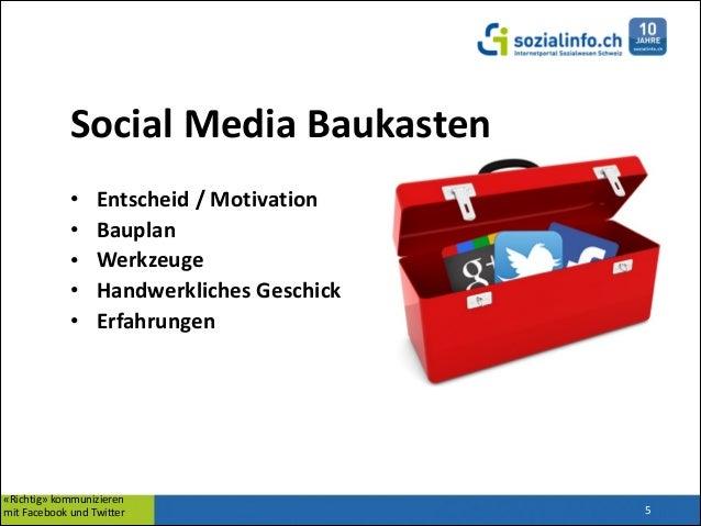 Social  Media  Baukasten   • • • • •  ! Entscheid  /  Motivation   Bauplan   Werkzeuge   Handwerkliches  ...