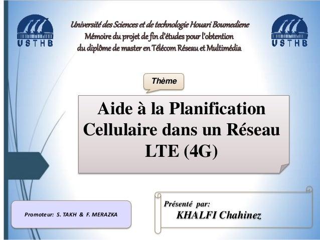 Plan • Introduction • Présentation générale du réseau LTE • Planification Cellulaire dans le Réseau LTE • Problème d'Affec...
