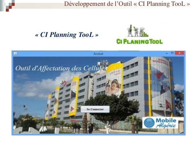 Développement de l'Outil « CI Planning TooL » « Diagramme de cas d'utilisation »