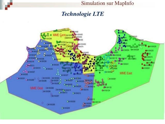 Simulation sur MapInfo Technologie 3G
