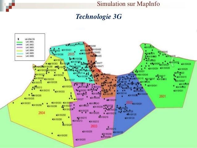 Simulation sur MapInfo Technologie 2G