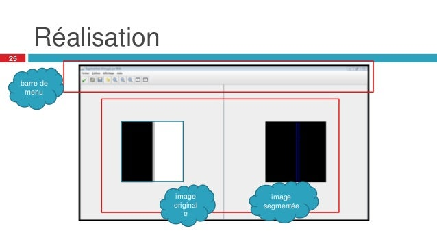 Réalisation 25 barre de menu image original e image segmentée