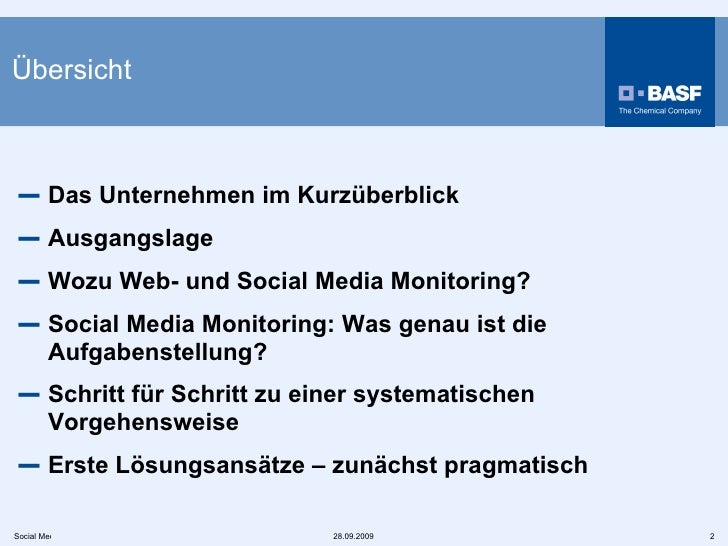 Übersicht  <ul><li>Das Unternehmen im Kurzüberblick </li></ul><ul><li>Ausgangslage  </li></ul><ul><li>Wozu Web- und Social...