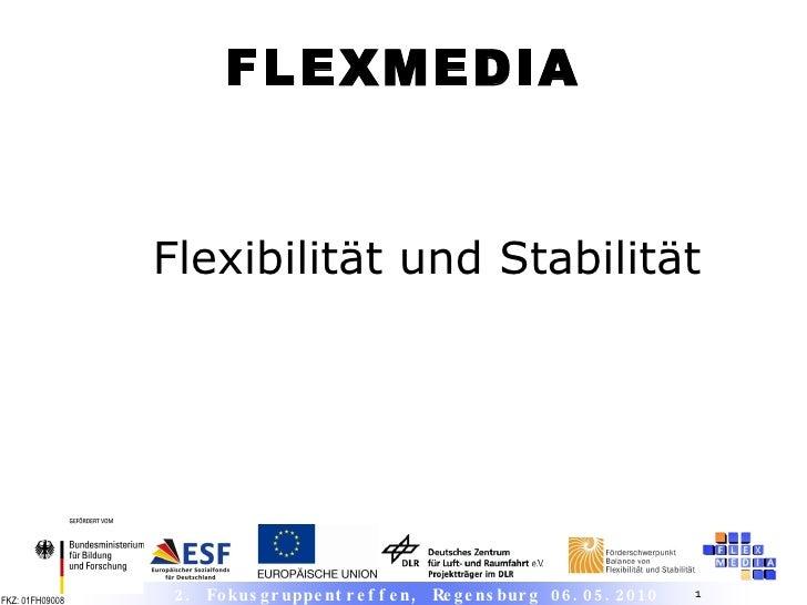 Flexibilität und Stabilität FLEXMEDIA