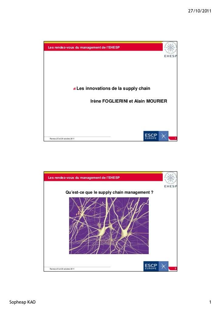 27/10/2011              Les rendez-vous du management de l'EHESP                                              Les innovati...