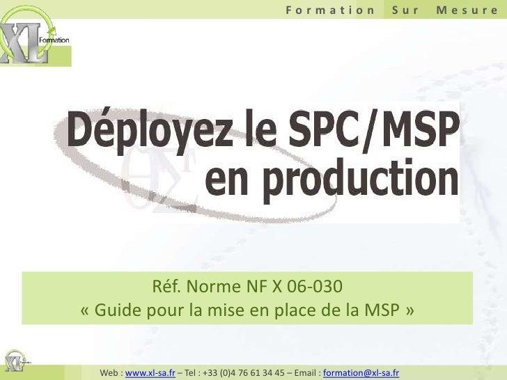 Réf. Norme NF X 06-030«Guide pour la mise en place de la MSP»<br />