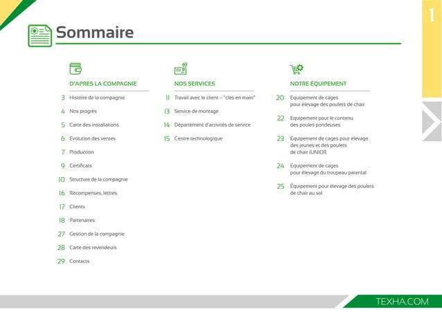 TEXHA.COM  Sommaire  1  D'APRES LA COMPAGNIE  Histoire de la compagnie  Nos progrès  Carte des installations  Evolution de...