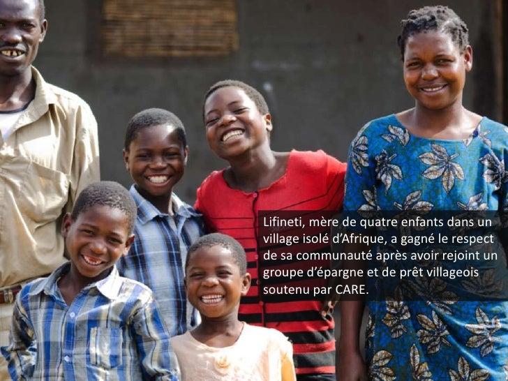 Lifineti, mère de quatre enfants dans un village isolé d'Afrique, a gagné le respect de sa communauté après avoir rejoint ...