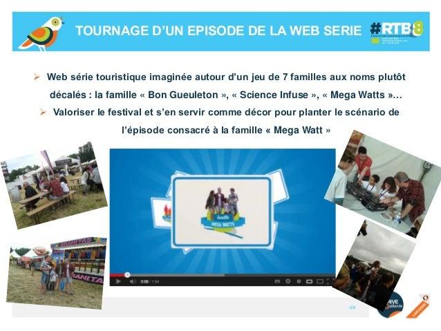 TOURNAGE D'UN EPISODE DE LA WEB SERIE   Web série touristique imaginée autour d'un jeu de 7 familles aux noms plutôt déca...
