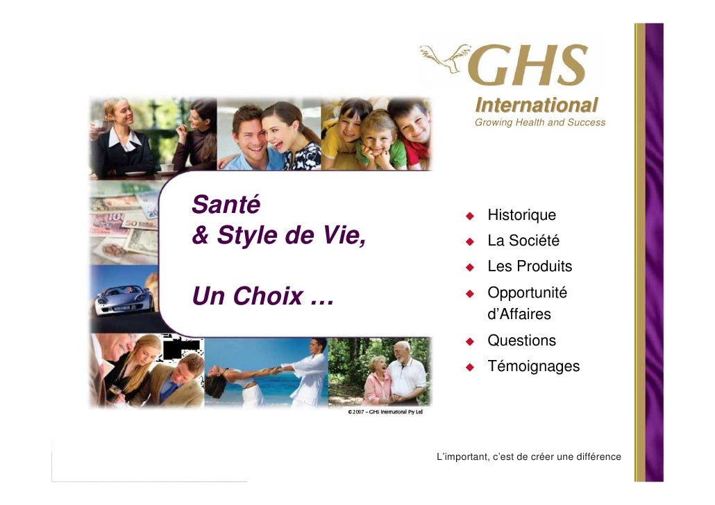 International                           Growing Health and Success     Santé                        Historique & Style de ...