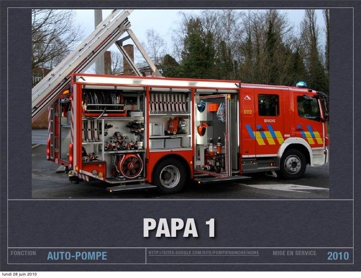 PAPA 1     FONCTION                                                                        MISE EN SERVICE                ...