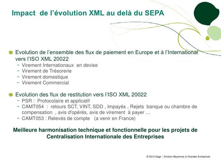 Impact de l'évolution XML au delà du SEPAEvolution de l'ensemble des flux de paiement en Europe et à l'Internationalvers l...