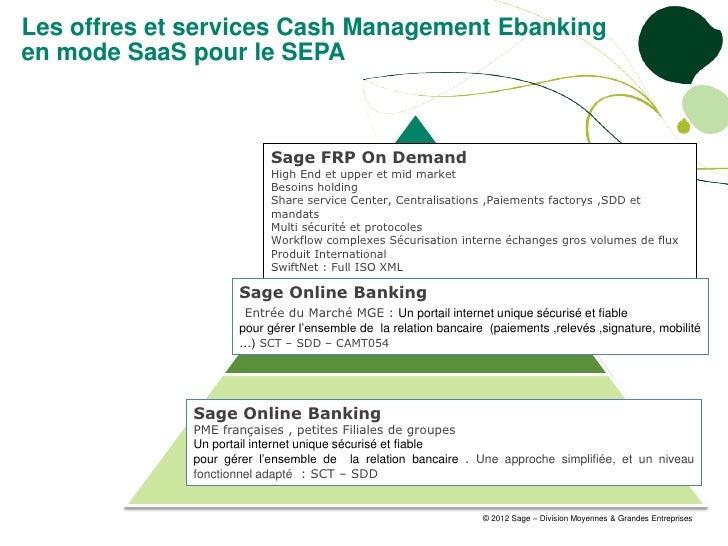 Les offres et services Cash Management Ebankingen mode SaaS pour le SEPA                          Sage FRP On Demand      ...