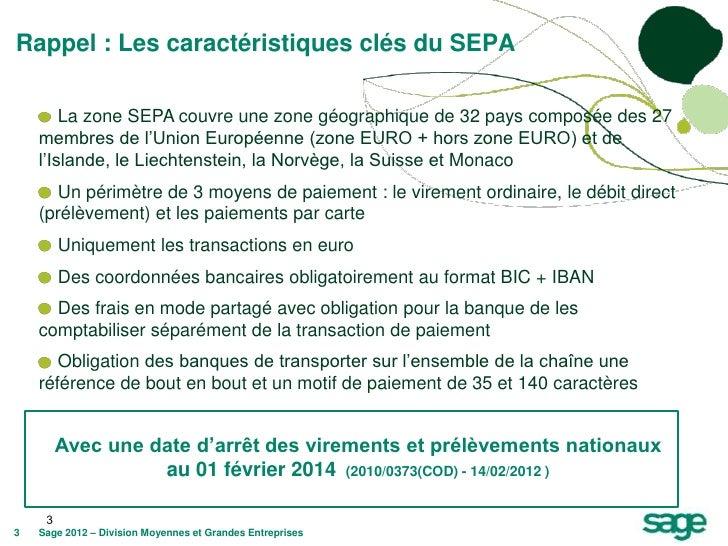 Rappel : Les caractéristiques clés du SEPA        La zone SEPA couvre une zone géographique de 32 pays composée des 27    ...