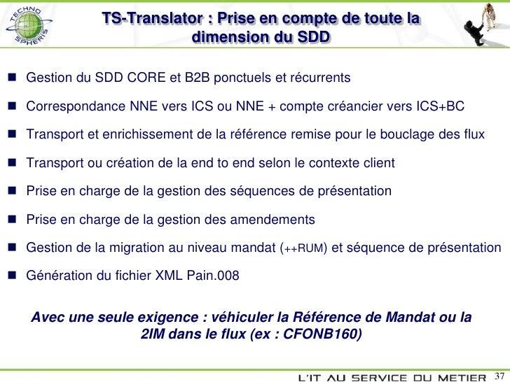 TS-Translator : Prise en compte de toute la                          dimension du SDD Gestion du SDD CORE et B2B ponctuel...