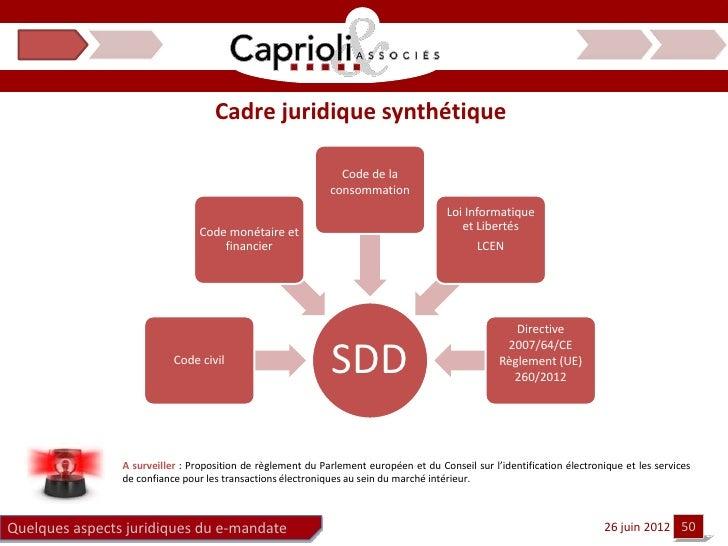 Cadre juridique synthétique                                                               Code de la                      ...