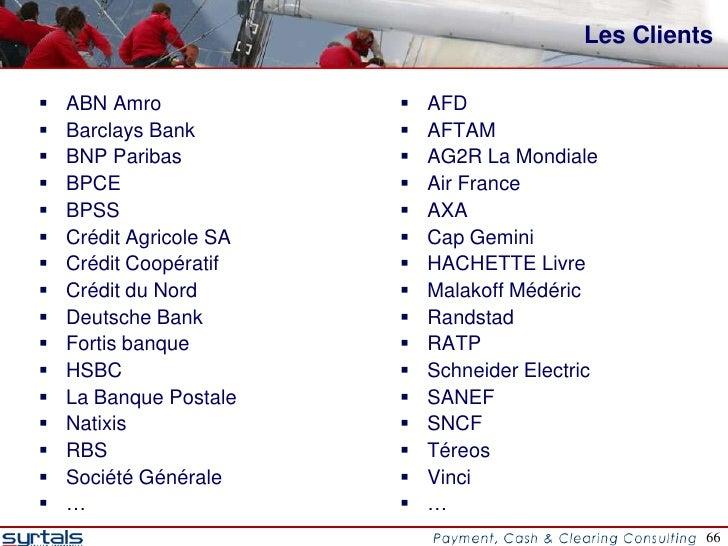 Les Clients   ABN Amro                AFD   Barclays Bank           AFTAM   BNP Paribas             AG2R La Mondiale...