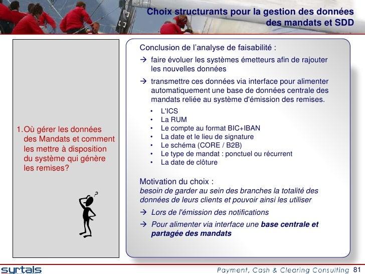 Choix structurants pour la gestion des données                                                          des mandats et SDD...