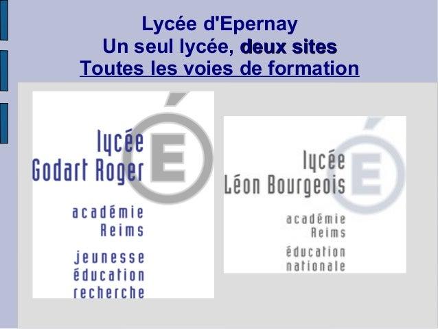 Lycée dEpernay  Un seul lycée, deux sitesToutes les voies de formation