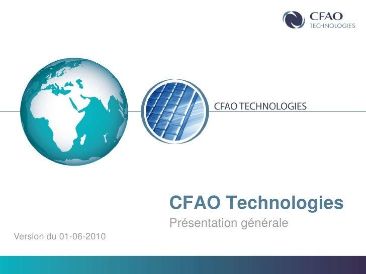 Présentation CFAO Technogies