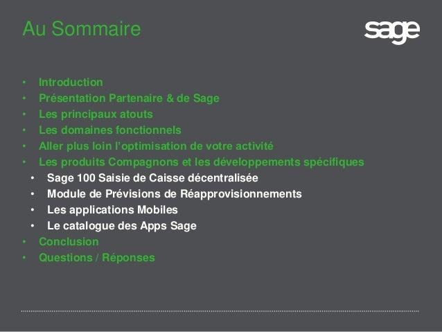 Présentation générale de Sage 100 gestion commerciale i7 Slide 2