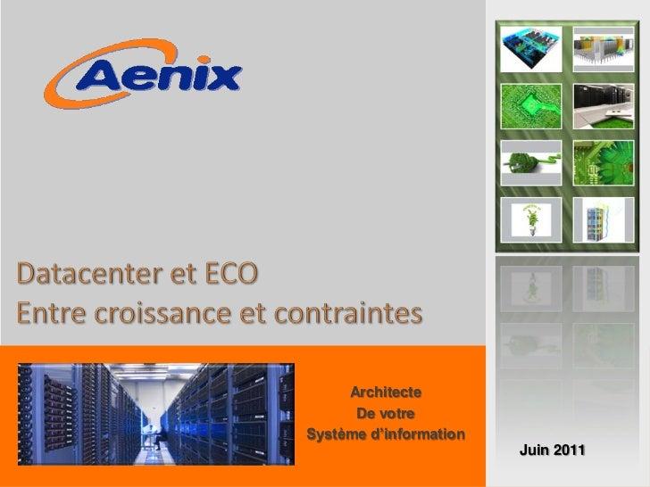 Architecte      De votreSystème d'information                        Juin 2011                                    1