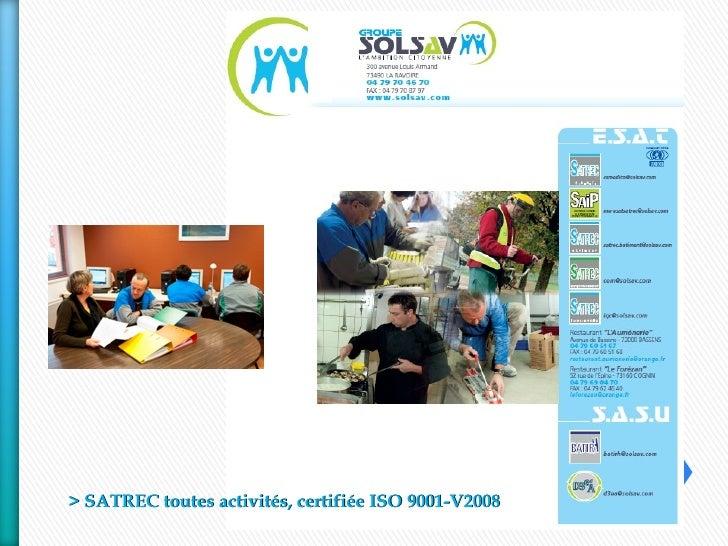 Présentation Groupe SOLSAV