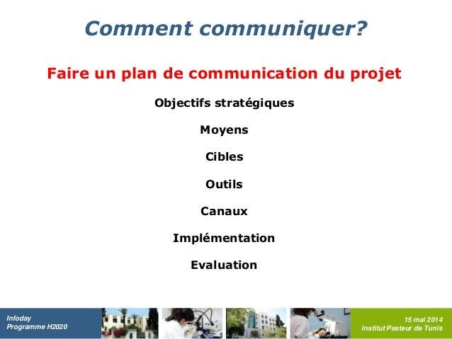 Activit de communication dans un projet h2020 d finition enjeux - Comment chiffrer un projet ...