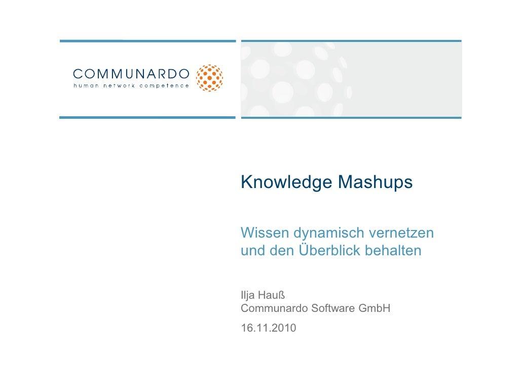 Knowledge Mashups - Wissen dynamisch vernetzen und den Überblick behalten