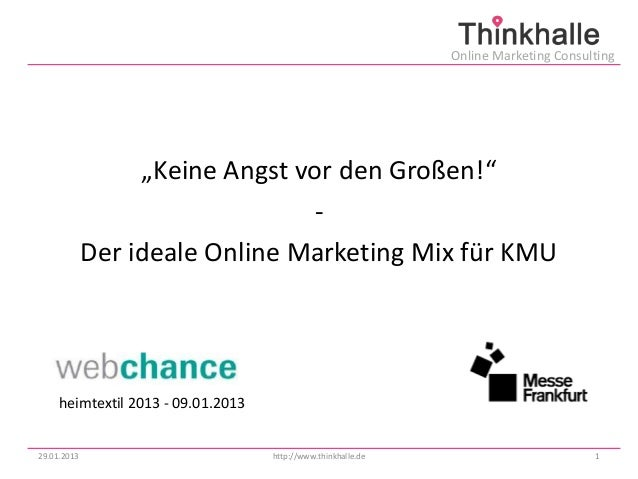 "Online Marketing Consulting                  ""Keine Angst vor den Großen!""                                -             De..."