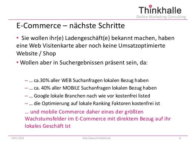 Online Marketing Consulting   E-Commerce – nächste Schritte   • Sie wollen ihr(e) Ladengeschäft(e) bekannt machen, haben  ...