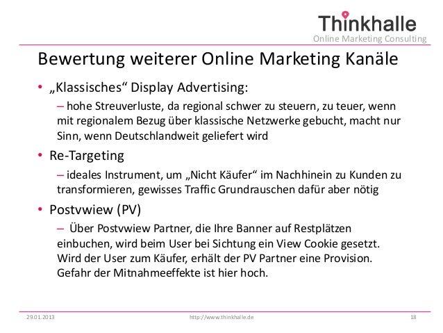 """Online Marketing Consulting   Bewertung weiterer Online Marketing Kanäle   • """"Klassisches"""" Display Advertising:           ..."""
