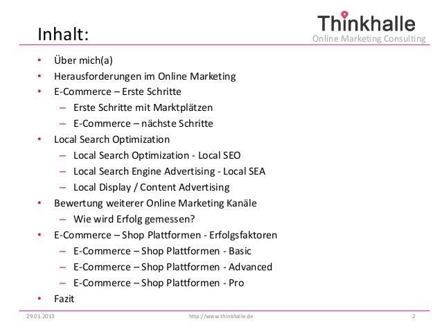 Inhalt:                                                      Online Marketing Consulting   •     Über mich(a)   •     Hera...