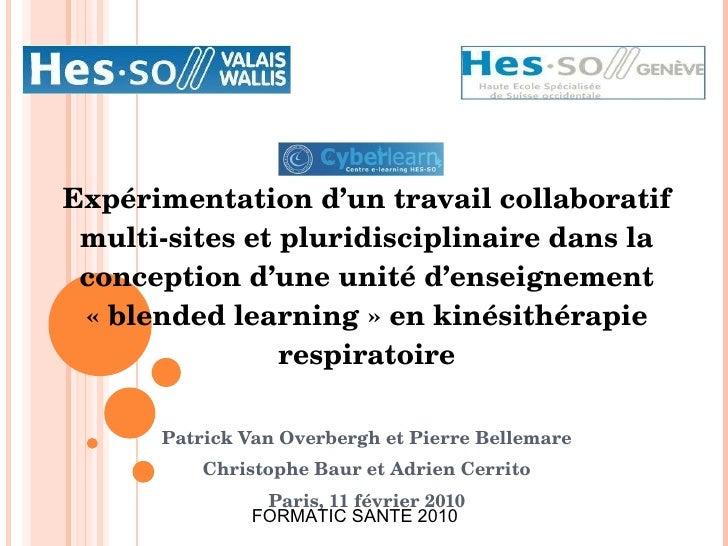 Expérimentation d'un travail collaboratif multi-sites et pluridisciplinaire dans la conception d'une unité d'enseignement ...