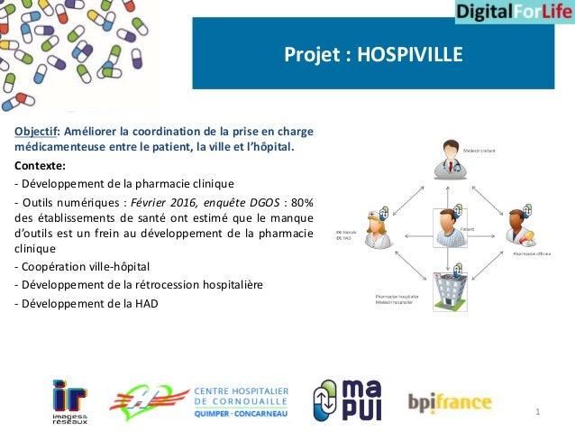 Objectif: Améliorer la coordination de la prise en charge médicamenteuse entre le patient, la ville et l'hôpital. Contexte...