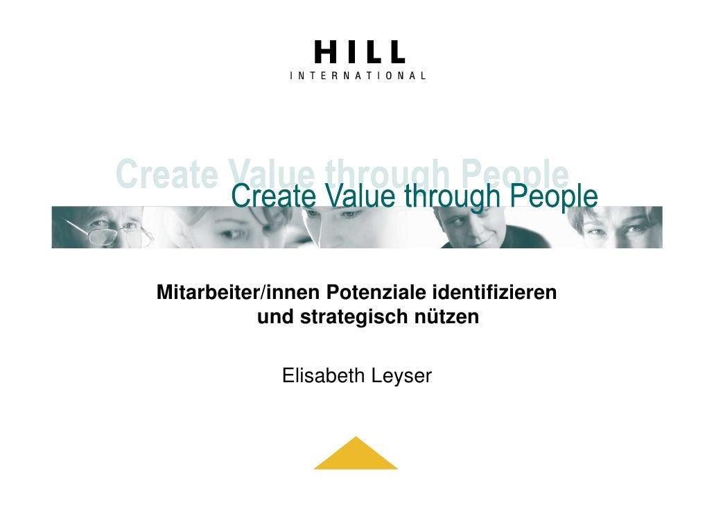 Mitarbeiter/innen Potenziale identifizieren            und strategisch nützen               Elisabeth Leyser