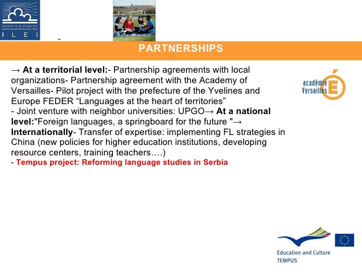 PARTNERSHIPS - ->  At a territorial level: - Partnership agreements with local organizations- Partnership agreement with t...
