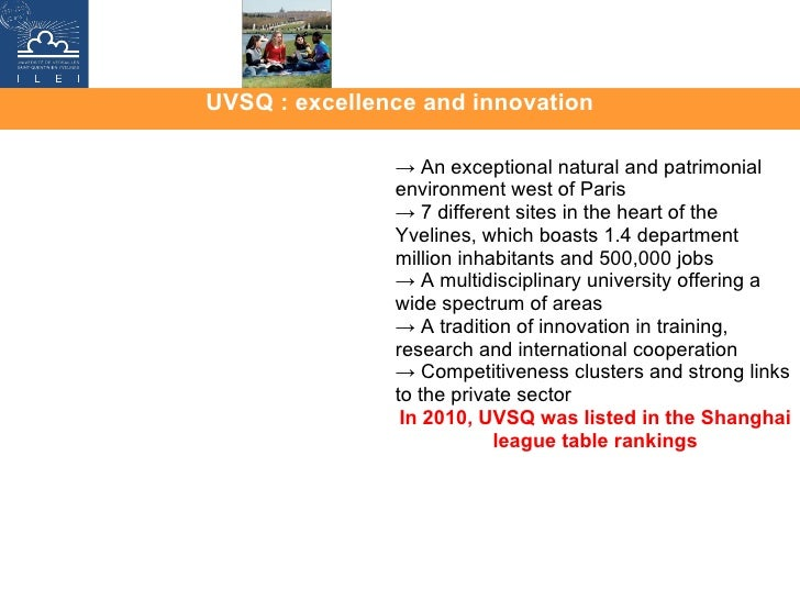 UVSQ : excellence and innovation ->  An exceptional natural and patrimonial environment west of Paris ->  7 different site...