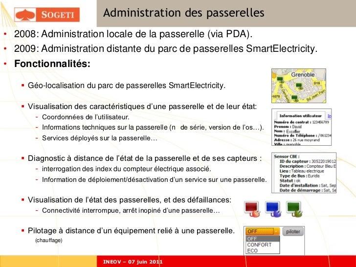 Administration des passerelles• 2008: Administration locale de la passerelle (via PDA).• 2009: Administration distante du ...
