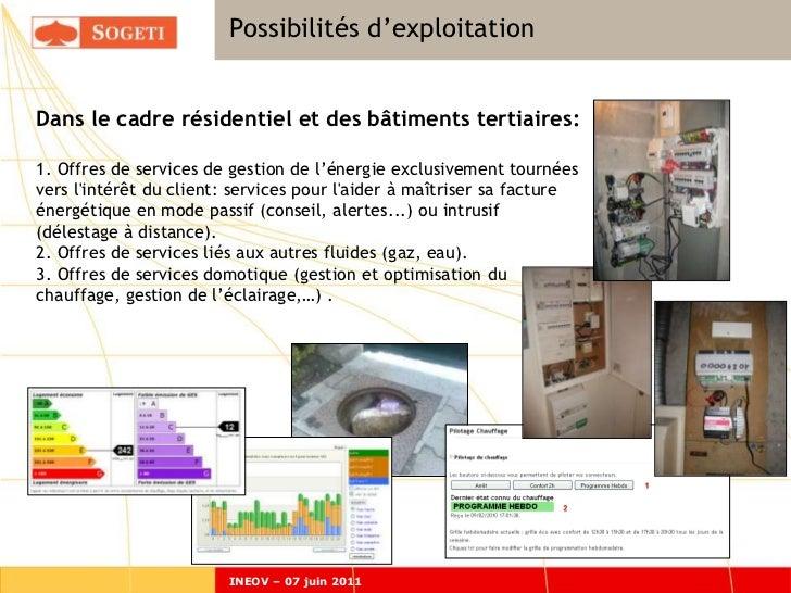 Possibilités d'exploitation                        Expérimentations: possiblités d'exploitationDans le cadre résidentiel e...