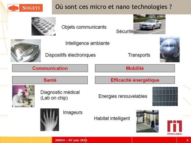 Où sont ces micro et nano technologies ?INEOV – 07 juin 2011                       3