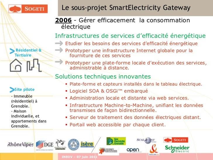 Le sous-projet SmartElectricity Gateway                    2006 - Gérer efficacement la consommation                      ...