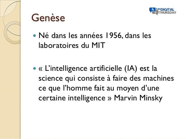 Présentation intelligence artificielle et domaines d'applications - #DigitalThursday #Edition8 Slide 2