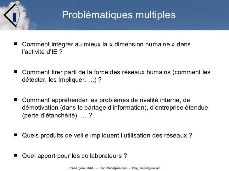 """Présentation sur la dimension """"humaine""""  des activités de veille et intelligence économique  Slide 3"""